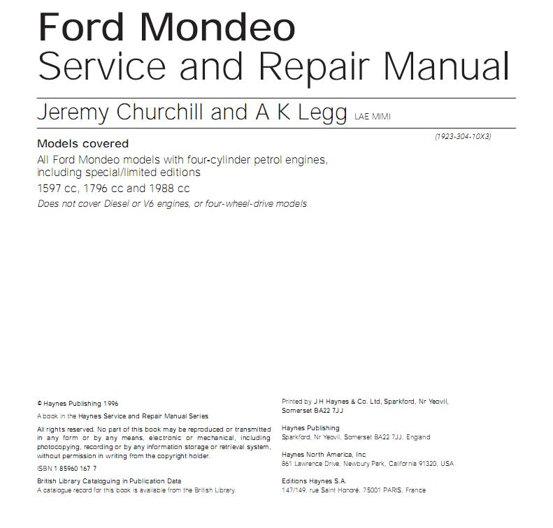 Manuales Ford Mondeo