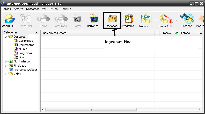 "Integra cualquier navegador a ""Internet Download Manage"