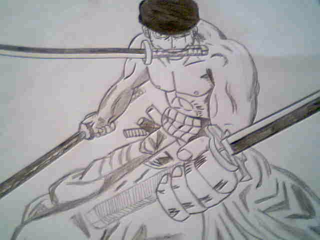 Mi dibujo one piece roronoa zoro dos a os despu s for Dibujos one piece
