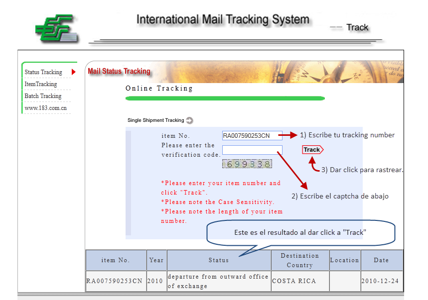 Tutorial: Como usar el tracking number. - Dealextreme, Focalprice ...